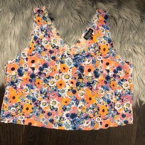 Floral scalloped tank top from TOPSHOP!